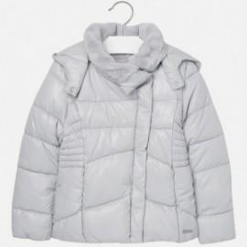 Mayoral 7491-12 bunda límec s kožešinou barva Postříbřený