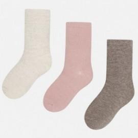 Mayoral 10316-25 sada 3 páry ponožky barva Jasně růžová