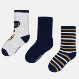 Mayoral 10217-82 Tři páry ponožek granátové barvy