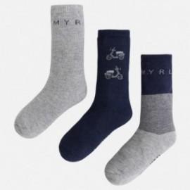 Mayoral 10250-78 Tři páry ponožek pejsek barva šedá