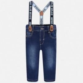 Mayoral 2569-44 kalhoty džíny se šlemi barva tmavý