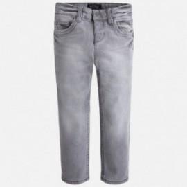 Mayoral 4531-56 kalhoty džíny Slim Fit barva šedá