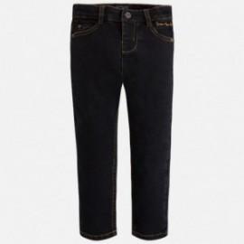 Mayoral 4529-11 kalhoty džíny Slim Fit barva černá