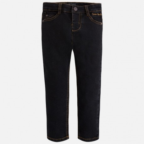 Mayoral 4529-11 kalhoty džíny Slim Fit barva černá f00f883541