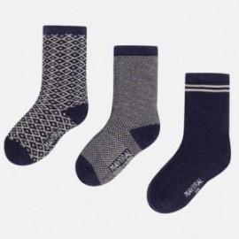 Mayoral 10216-26 Sada 3 ponožky granátové barvy