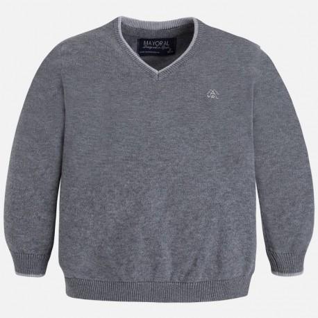 Mayoral 315-62 svetr bavlna basic barva šedá