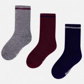Mayoral 10301-20 Sada 3 párů ponožek Barva Mocca