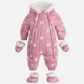 Mayoral 2613-32 kombinéza pro dívku na zimu s tiskem Růžová barva
