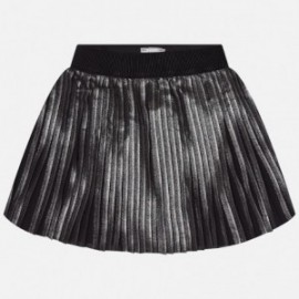 Mayoral 7905-89 sukně šifón plisé metalíza barva černá