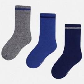 Mayoral 10301-21 sada 3 páry ponožky barva safír