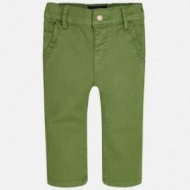 Mayoral 2571-46 kalhoty štíhlý fit barva zelená
