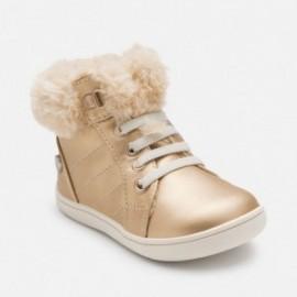 Mayoral 42730-87 boty kožešina barva měď
