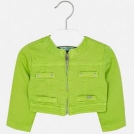 Mayoral 1426-25 Krátká dívčí bunda barva zelená