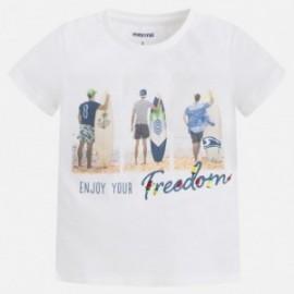 Mayoral 3085-94 tričko chlapci surfaři barva bílá