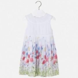Mayoral 3986-72 Dívčí šaty bílé barvy
