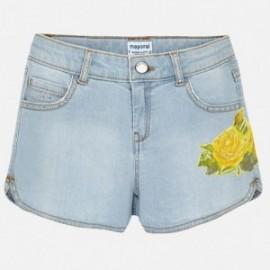 Mayoral 6202-85 šortky dívčí barva lehké džíny