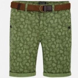 Mayoral 6242-66 Bermudy chlapci s opaskem barva zelená