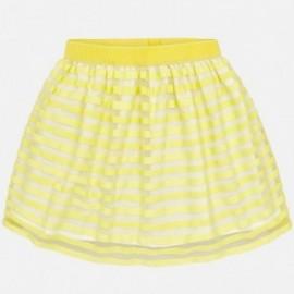 Mayoral 6912-54 Dívčí sukně pásy barva žlutý