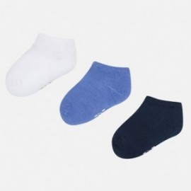 Mayoral 10331-67 Sada 3 párů ponožek barva modrý