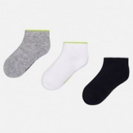 Mayoral 10421-48 Nastavte pro chlapce 3 páry ponožek šedé barvy