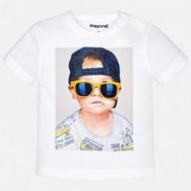 Mayoral 1050-50 tričko krátký rukáv chlapec barva bílá