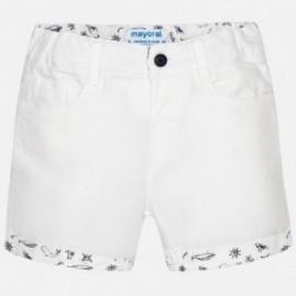 Mayoral 1292-71 Bermudy s přidaným lenem Bílá barva