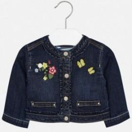 Mayoral 1424-50 Dívčí džínová bunda s výšivkou barva námořnictva