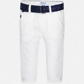 Mayoral 1540-11 kalhoty chlapci klasický barva bílá