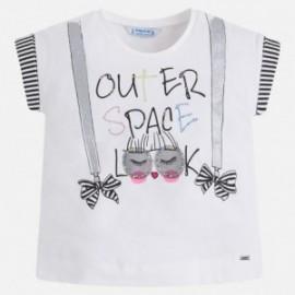 Mayoral 3022-10 Dívčí tričko barva bílá