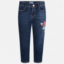 Mayoral 3512-69 Dlouhé kalhoty dívky džíny barva granát