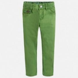 Mayoral 3528-66 Chlapčenské kalhoty od serge zelená barva