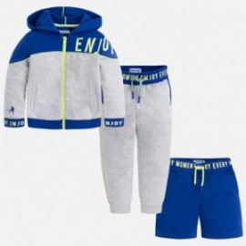Mayoral 3814-16 track-suit chlapecký 3 díly barva modrá / šedá