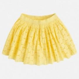 Mayoral 3914-89 Dívčí sukně krajka barva Lemon