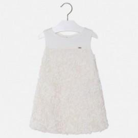 Mayoral 3924-26 Dívčí šaty tyl barva smetanový