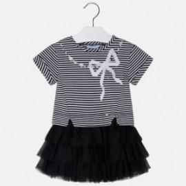 Mayoral 3980-38 Dívčí šaty barva černá