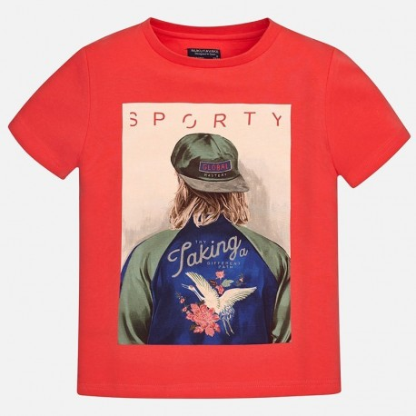 Mayoral 6098-21 tričko chlapci barva červená