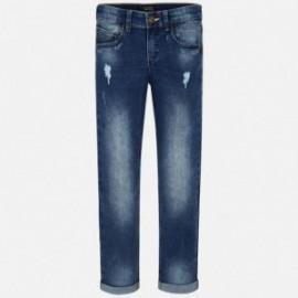 Mayoral 6530-82 Chlapčenské kalhoty džíny štíhlý fit s odřením barva základní