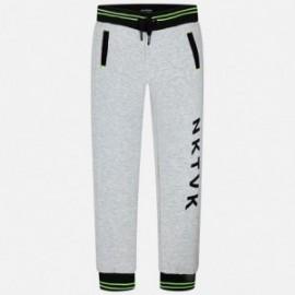 Mayoral 6538-80 kalhoty chlapci barva šedá