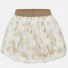 Mayoral 6900-58 Dívčí sukně tyl s výšivkou krémová barva