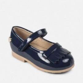Mayoral 41852-45 Dámské boty lakované kožené barvy Navy