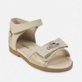 Mayoral 41864-74 sandály dívčí s lukem a krystaly Zlatá barva