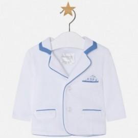 Mayoral 1404-28 Chlapčenská pletená bunda s bílou barvou