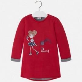 Mayoral 4965-65 Šaty pro dívky Červená barva