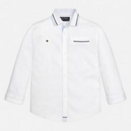 Mayoral 7139-17 Chlapčenská košile hladké detaily Bílá barva