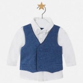 Mayoral 2105-10 košile vestu a motýlku barva námořnictva