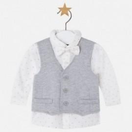 Mayoral 2105-11 košile vestu a motýlku barva šedá