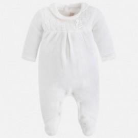 Mayoral 2727-60 Pyžama pletené krajky barvy smetany