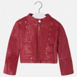 Mayoral 4408-79 bunda umělá kůže drátěnky červená barva