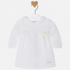Mayoral 2805-70 Dívčí šaty na krémové barvy