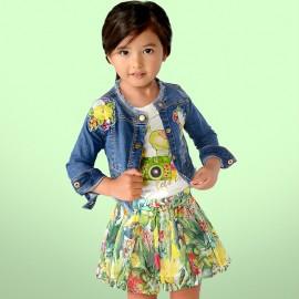 Mayoral 3416-83 Dívčí džínová bunda s modrou barvou